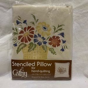 Basket of Flowers Stenciled Pillow Kit
